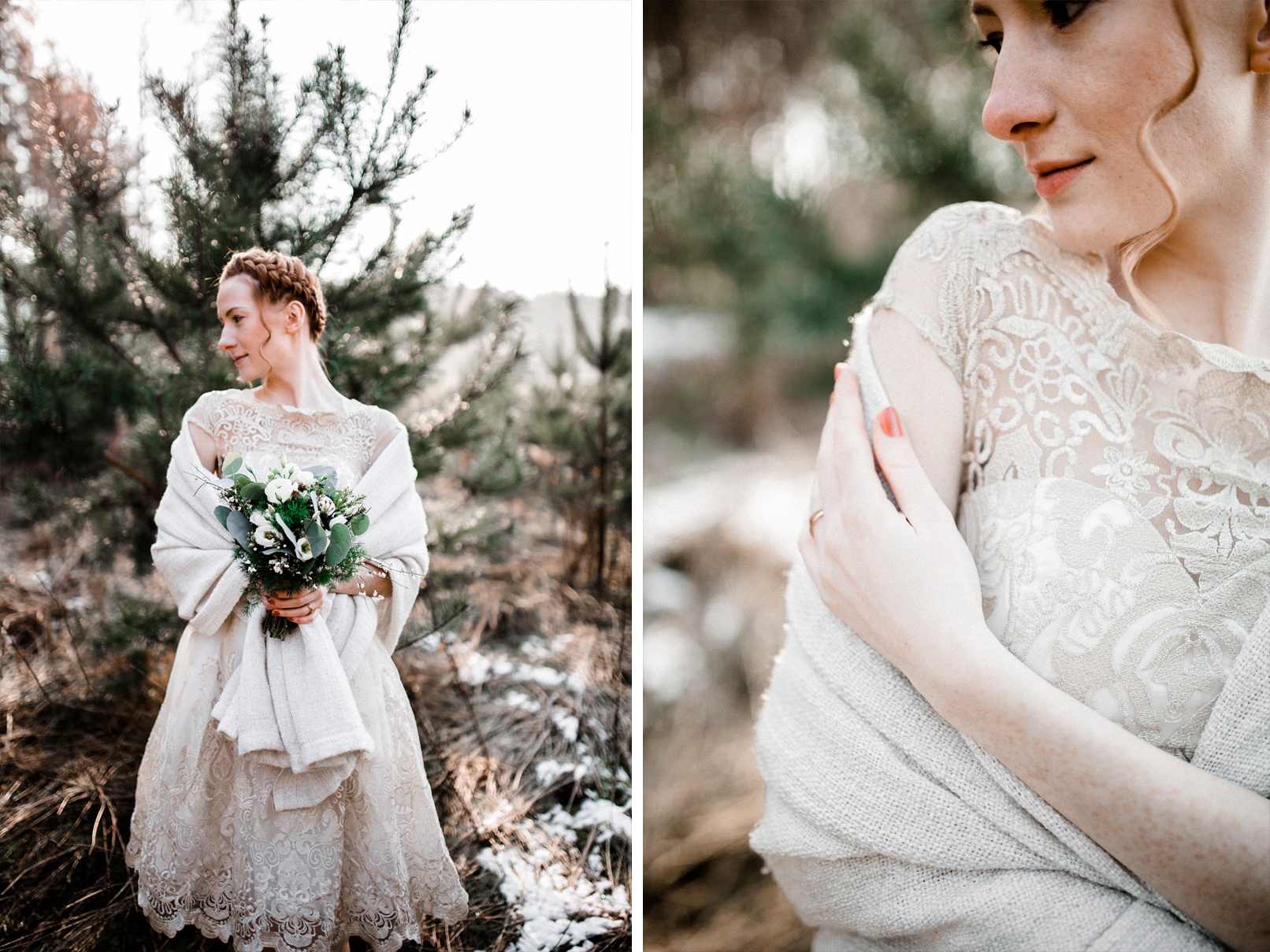 Winterbraut/ rustikal/ rustic Wedding/ Fine Art/ Winter Bride /Kristin Kehr Photography